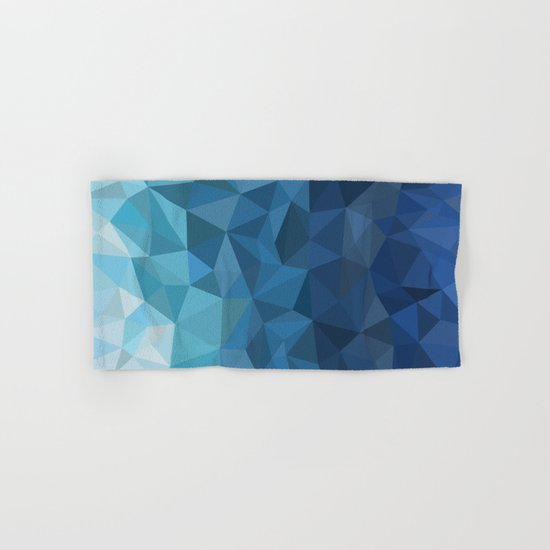blue geometric Hand & Bath Towel