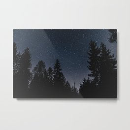 Star Night in the Woods | Nature and Landscape Photography Metal Print