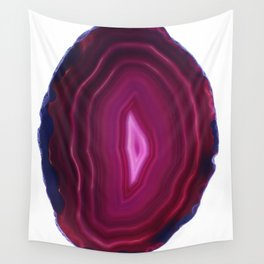 Warm Pulses Agate Wall Tapestry