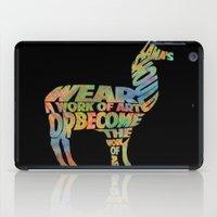 lama iPad Cases featuring Lama by Julie Luke