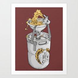 Milwaukee- #1 Brew City Beer Bubbler Art Print