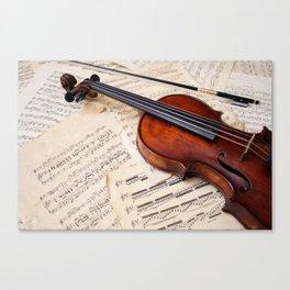 Violin music and notation Canvas Print