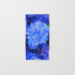 Crystal Blue Hydrangea flowers Hand & Bath Towel