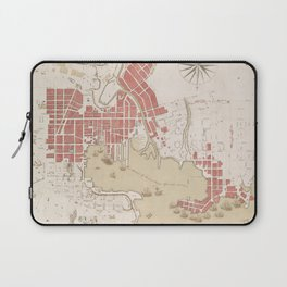 Vintage Map of Baltimore MD (1793) Laptop Sleeve