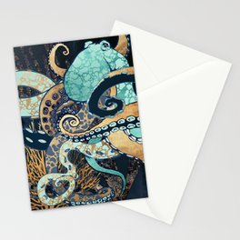 Metallic Octopus II Stationery Cards