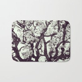 White Tree Blossom Bath Mat