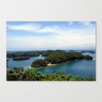 philippines Canvas Prints featuring Hundred Islands, Philippines 01 by berrygoochampagne