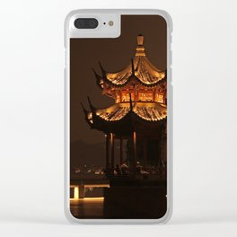 Chinese Pagoda on Lake Clear iPhone Case