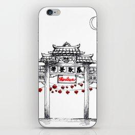 Wander with Yu - Chinatown iPhone Skin