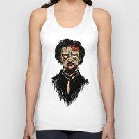 edgar allan poe Tank Tops featuring Edgar Allan Poe Zombie by Joey Gates