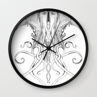 teeth Wall Clocks featuring Teeth by Joel McDonnell