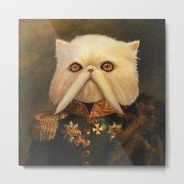 Persian Cat Emperor Metal Print