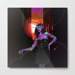Cybergirl Metal Print