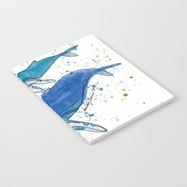 Whale Mommy and Baby Notebook