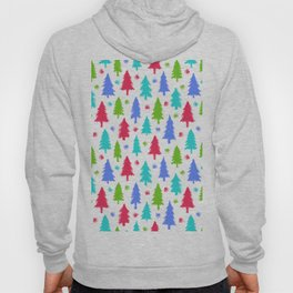 Christmas trees and stylized snowflakes Hoody
