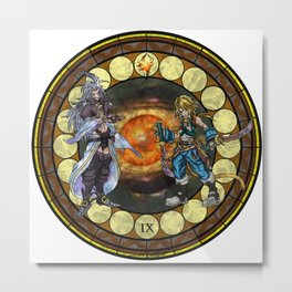 Final Fantasy IX Stained Glass Drawing Metal Print