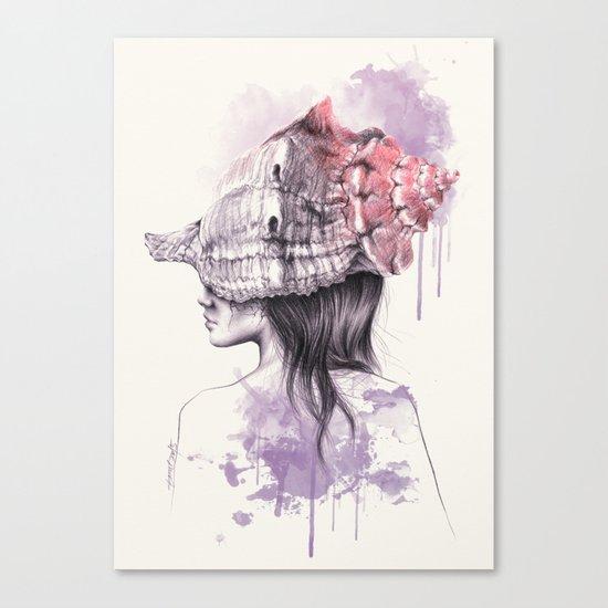 Inside my shell Canvas Print