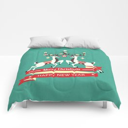 Christmas Deers with baubles Comforters
