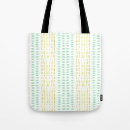 Striped dots and dashes Tote Bag