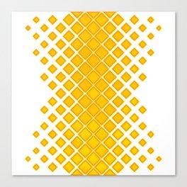 Diamonds Large to Small Yellow Canvas Print