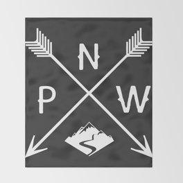 Pacific North West, Seattle Washington Throw Blanket
