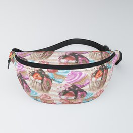 Cupcakes and Strawberries Fanny Pack
