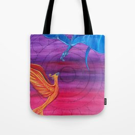 Everlasting Love - Dragon and Phoenix Tote Bag