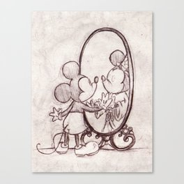 Mouse in the Mirror Canvas Print