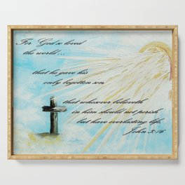 For God so Loved the World Serving Tray