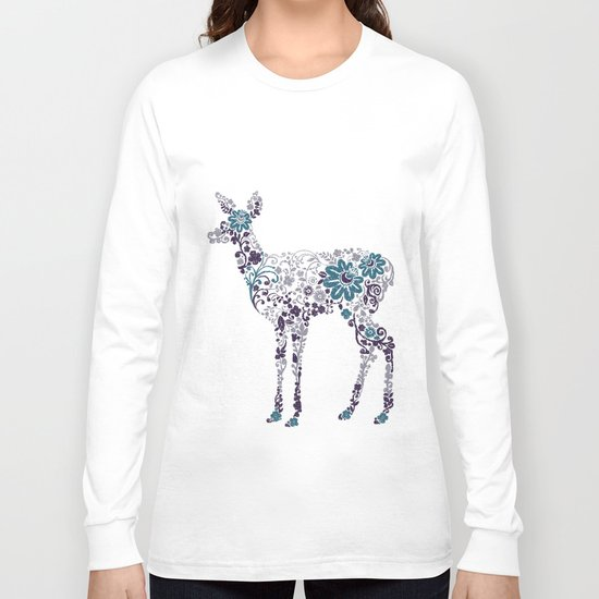 Flower Deer Long Sleeve T-shirt