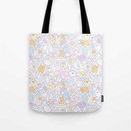 Dreamy Pastel Doodle Tote Bag
