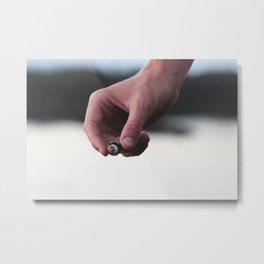 SHELL HAND Metal Print