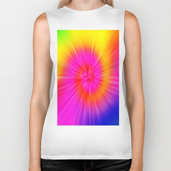 TIE DYE #1 (Rainbow Colors) Biker Tank