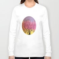 blush Long Sleeve T-shirts featuring Winter's blush by maggs326