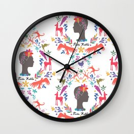 Frida Cameo in Blanca Wall Clock