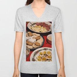 Appetizing Feasts #1 Unisex V-Neck