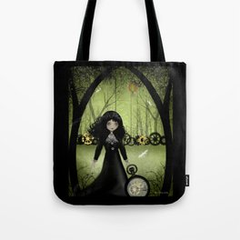 Dark Steampunk Art 'Clockwork Princess' Tote Bag