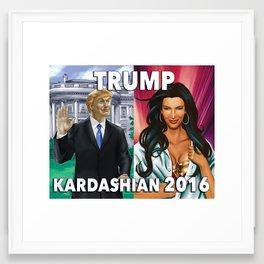 Trump Kardashian 2016  Framed Art Print