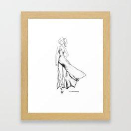Lady Like - Black&White Framed Art Print