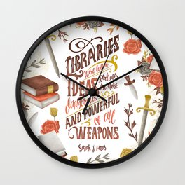 LIBRARIES WERE FULL OF IDEAS Wall Clock