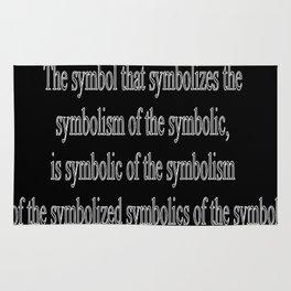A Load of Symbolics Rug