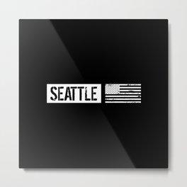 U.S. Flag: Seattle Metal Print