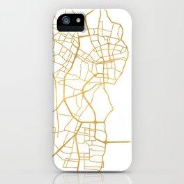 MARACAIBO VENEZUELA CITY STREET MAP ART iPhone Case