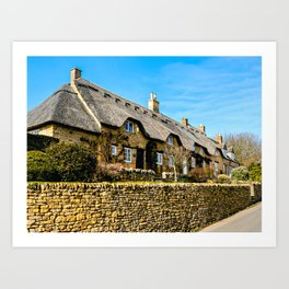 Cotswold Cottages  Art Print