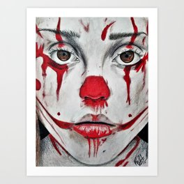 Creepy Clown Art Print