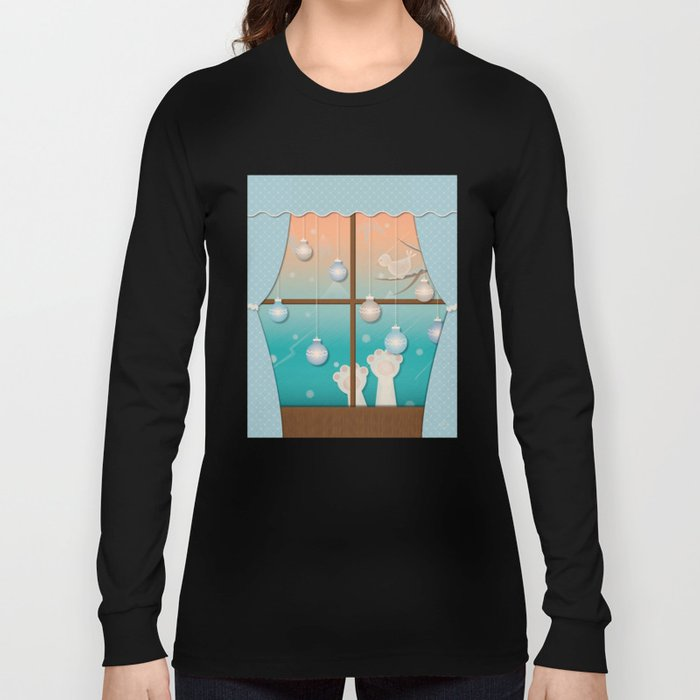 The Christmas Window Long Sleeve T-shirt