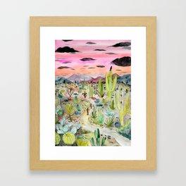 Cactus Forest Framed Art Print