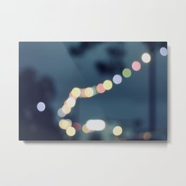 Along the bokeh line Metal Print