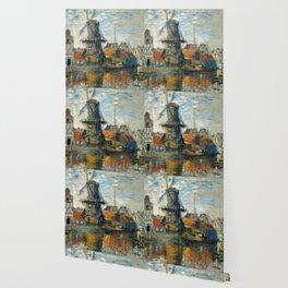 "Claude Monet ""The Windmill, Amsterdam"", 1871 Wallpaper"