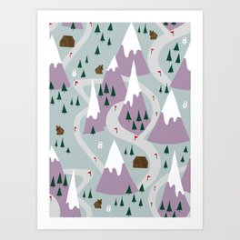 Ski slopes Art Print